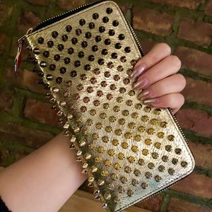 Gold Studded Cork Panettone Wallet